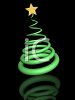 3D Christmas Tree Made from a Spring clipart