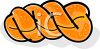 Braided Challah Bread clipart