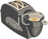 Toaster That Makes Toast and Cooks an Egg clipart