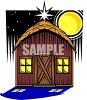 Small Barn At Night clipart