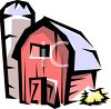 Barn with a Silo clipart