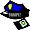 Cop Hat and Badge clipart