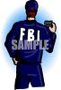 FBI Agent Showing His Badge clipart