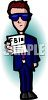 FBI Agent Showing His Identification clipart