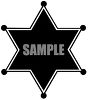 Silhouette of a Police Sheriff 's Star Badge clipart