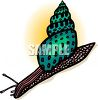 Sea Snail with a Pretty Shell clipart