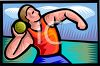 Track and Field Athlete Shot Putter  clipart