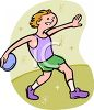 Track and Field Athlete Cartoon Discus Thrower clipart