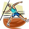 Track and Field Athlete Javelin Thrower clipart