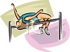 Female Track and Field Athlete High Jumper clipart