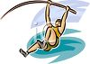 Track and Field Athlete Pole Vaulting clipart