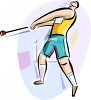 Track and Field Athlete Throwing the Hammer clipart