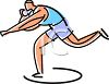 Track and Field Athlete Throwing the Shot Put clipart