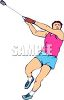 Track and Field Event-Throwing the Hammer clipart