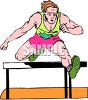 Track and Field Event-Man Running Hurdles clipart