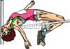 Track and Field Event-Guy Going Over the High Jump Bar clipart