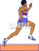 Track and Field Event-Black Man Running in a Relay Race clipart
