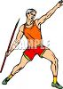 Athlete Throwing the Javelin at a Track Meet clipart