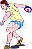Athlete Throwing the Discus clipart