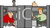 Office Workers in Their Cubicles clipart