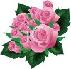 3D Pink Roses clipart