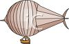 Cartoon of a Blimp clipart