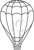 Black and White Line Drawing of a Hot Air Balloon clipart