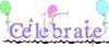 Celebrate Text with Balloons clipart