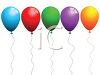 Colorful Balloons with Strings clipart