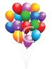 Bunch of 3D Balloons clipart