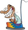 African American Man Riding in a Bumper Car clipart