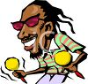 Black Musician with Dreadlocks and Maracas clipart