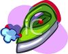 Cartoon of a Steam Iron clipart