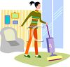 Young Woman Cleaning Her Apartment clipart