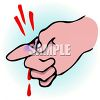 Deep Cut on a Finger clipart