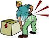 Cartoon of a Man with a Back Injury clipart