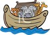 Animals on Noah's Ark clipart