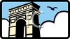 Arc de Triomphe in Paris France clipart