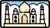 Icon for the Taj Mahal in India clipart