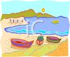 Rowboats on the Shore clipart