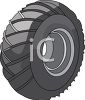 Passenger Car Tire clipart