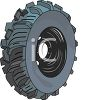 Off Road or Mud Tire with Deep Tread clipart