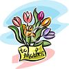 Mother's Day Tulip Design clipart