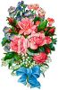 Vintage Bouquet of Fowers clipart