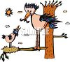 Mother Bird Feeding Her Baby clipart