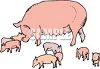 Mother Pig with Her Babies clipart