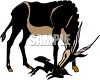 Mother Gazelle and Her Baby clipart