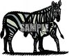 Mother Zebra and Her Baby clipart