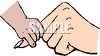 Little Hand Holding a Big Hand clipart