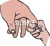 Child Holding Her Mom's Finger clipart